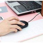 Famhome stand de bureau mat grande taille <anti-dérapant Bureau souris Bureau imperméable à l'eau mat protecteur tapis de souris avec le smartphone, pochesMédium Rose de la marque Famhome image 1 produit