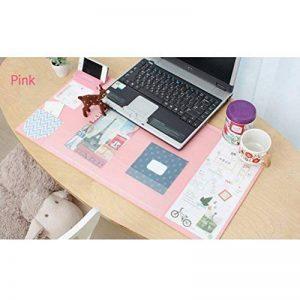Famhome stand de bureau mat grande taille <anti-dérapant Bureau souris Bureau imperméable à l'eau mat protecteur tapis de souris avec le smartphone, pochesMédium Rose de la marque Famhome image 0 produit