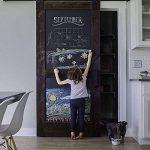 Fancy-fix Vinyle Tableau Autocollant Ardoise 43cm x 200cm Effaçable Sticker Mural Adhésif pour Bureau Maison École, Noir de la marque fancy-fix image 2 produit