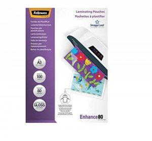 Fellowes 5306207 Pochettes de Plastification Brillantes ImageLast A3 80 Microns - Paquet de 100 de la marque Fellowes image 0 produit