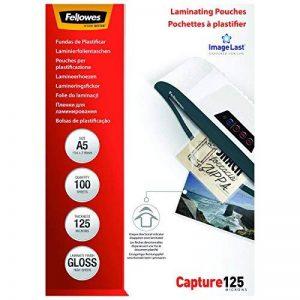 Fellowes 5307302 Pochettes de plastification A5 125 microns par 100 de la marque Fellowes image 0 produit