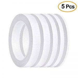 FEPITO 5 Pack Double face ruban multi-usages forte bande collante forte pour le bureau / artisanat / couture, 25m chaque rouleau (largeur: 6mm / 9mm / 12mm / 15mm / 18mm) de la marque FEPITO image 0 produit