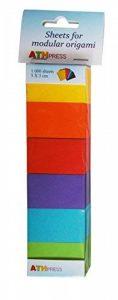 Feuilles de papier craft pour origami modulaire Papier Jaune moutarde/orange/rouge corail/violet/turquoise/bleu/vert printemps Grand Lot de 6 de la marque Modular Origami Sheets image 0 produit
