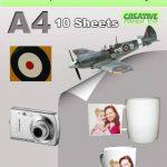 Feuilles decalques vierges fond blanc jet d encre 10 feuilles A4 de la marque Mr Decal Paper image 4 produit