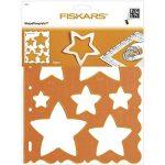 Fiskars 4856 Gabarit de Découpe Etoiles - Orange de la marque Fiskars image 1 produit