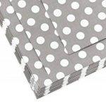 FiveSeasonStuff Papier Sacs pour Alimentation Bonbons sucrés, Cadeaux Fête de mariage, pour anniversaire Buffets bébé Buffets Picniques BBQ Arts & Crafts Bricolage (13cm x 18cm) - Pack de 100 (Gris, Points Polka) de la marque FiveSeasonStuff image 3 produit