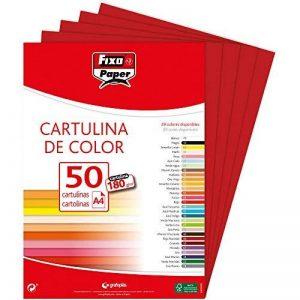 Fixo 11110356Lot de 50Feuilles de papier cartonné A4, couleur rouge carmin de la marque FIXO image 0 produit
