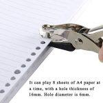 FJSM 3pcs Pince Perforateur de papier en Métal à la main pour les petits travaux de papeterie, 1 trous, 8 pages papier A4 de la marque FJSM image 1 produit