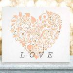 FLEUR COEUR Mur Meubles Sol Pochoir Pour Peinture - X Petit de la marque Dizzy Duck Designs image 2 produit