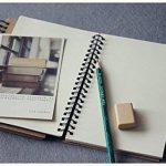 FLOKD Lot de 2 Cahiers à Spirales, Blanc, A5 (14.6 x 21 CM), 100 Pages Chacun, Notebook de Couverture Kraft de Deux Couleur, Papier de 100g de la marque FLOKD image 1 produit