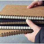 FLOKD Lot de 2 Cahiers à Spirales, Blanc, A5 (14.6 x 21 CM), 100 Pages Chacun, Notebook de Couverture Kraft de Deux Couleur, Papier de 100g de la marque FLOKD image 5 produit