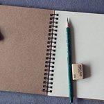 FLOKD Lot de 2 Cahiers à Spirales, Blanc, A5 (14.6 x 21 CM), 100 Pages Chacun, Notebook de Couverture Kraft de Deux Couleur, Papier de 100g de la marque FLOKD image 3 produit