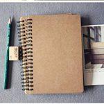 FLOKD Lot de 2 Cahiers à Spirales, Blanc, A5 (14.6 x 21 CM), 100 Pages Chacun, Notebook de Couverture Kraft de Deux Couleur, Papier de 100g de la marque FLOKD image 4 produit