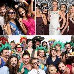 Foonii Lot de 90 accessoires colorés, lunettes, moustaches, lèvres, nœuds papillon, chapeaux sur bâtons pour mariages, fête de Noël, anniversaires de la marque Rymall image 6 produit