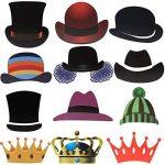 Foonii Lot de 90 accessoires colorés, lunettes, moustaches, lèvres, nœuds papillon, chapeaux sur bâtons pour mariages, fête de Noël, anniversaires de la marque Rymall image 3 produit