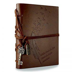 Foonii New Vintage Magique Key String Notebook Journal Blank Agenda Jotter Cahier Corde Vintage Intimate Diary (Café) de la marque Foonii image 0 produit
