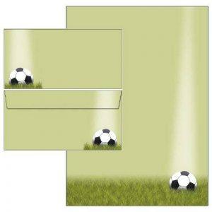 Football Sport Set de papier à lettres + enveloppes DIN long sans fenêtre 25 Blatt Briefpapier + 25 Kuverts mit Mappe de la marque Ideenstadl image 0 produit