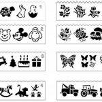 FoxSay Gommettes 60 Feuilles + 8 Pochoirs de Dessin Enfants, Autocollants Adhésifs en Coeur, Étoiles, Pois Colorés Stickers Pour Album Scrapbooking DIY Enfant de la marque FoxSay image 2 produit