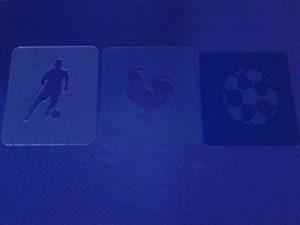 France face à des pochoirs de peinture à l'appui équipe française en Euro 2016 resuable plusieurs fois de la marque Dazzle Glitter Tattoos image 0 produit