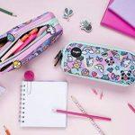 Fringoo® 3Compartiment Trousse pour enfant école papeterie support Funny Cute Large Holo Doodle - 3 Compartments de la marque Fringoo image 3 produit