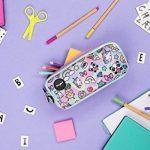 Fringoo® 3Compartiment Trousse pour enfant école papeterie support Funny Cute Large Holo Doodle - 3 Compartments de la marque Fringoo image 4 produit