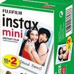 Fujifilm - Twin Films pour Instax Mini - 86 x 54 mm - 10 feuilles x 2 paquets + Fujifilm 70100137913 Instax Mini Développement Instantané Monochrome de la marque Fujifilm image 1 produit