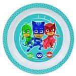 FUN HOUSE 005559 Pyjamasques Ensemble Repas Contenant 1 Assiette, 1 Bol et 1 Verre pour Enfant Polypropylène Blanc 26.5x8.5x24.5 cm de la marque FUN HOUSE image 2 produit