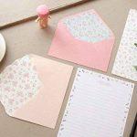 Funcoo - 48jolies feuilles de papier à lettre avec 24enveloppes + 1planche d'autocollants à sceller Style-2(7.1x5.2 inch) de la marque Funcoo image 3 produit