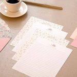 Funcoo - 48jolies feuilles de papier à lettre avec 24enveloppes + 1planche d'autocollants à sceller Style-2(7.1x5.2 inch) de la marque Funcoo image 1 produit