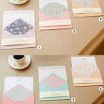 Funcoo - 48jolies feuilles de papier à lettre avec 24enveloppes + 1planche d'autocollants à sceller Style-2(7.1x5.2 inch) de la marque Funcoo image 4 produit