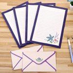 Funcoo 48Lovely Cute Kawaii écriture papeterie papier à lettres avec 24enveloppe + 1planche à imprimer Joint d'autocollant Style-1(8.3'' x 5.8'') de la marque Funcoo image 1 produit