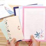Funcoo 48Lovely Cute Kawaii écriture papeterie papier à lettres avec 24enveloppe + 1planche à imprimer Joint d'autocollant Style-1(8.3'' x 5.8'') de la marque Funcoo image 2 produit