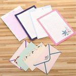 Funcoo 48Lovely Cute Kawaii écriture papeterie papier à lettres avec 24enveloppe + 1planche à imprimer Joint d'autocollant Style-1(8.3'' x 5.8'') de la marque Funcoo image 3 produit