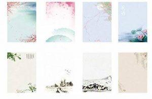 Funcoo Ensemble de 64 lettres en papier Design d'écriture rétro Vintage, 8 différents styles Style-1 de la marque Funcoo image 0 produit