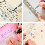 FunRun Lot de 4 marque-pages avec règle et gabarit de dessin, en acier inoxydable, idéal pour faire vos propres albums photo et scrapbooks de la marque FunRun image 4 produit