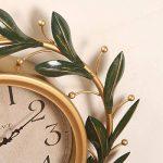fwerq fer forgé Pastoral Création de réveil, réveil, muet Salon rétro horloges Décorations d'intérieur, chambre à coucher de la marque fwerq image 1 produit