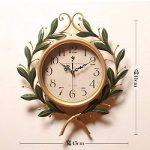 fwerq fer forgé Pastoral Création de réveil, réveil, muet Salon rétro horloges Décorations d'intérieur, chambre à coucher de la marque fwerq image 3 produit