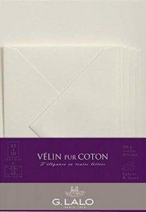 G. Lalo 61000L Ensemble 10 feuilles et 5 enveloppes Vélin pur coton - format A5, 21.30 x 16.30 x 0.80 cm, Crème de la marque G. Lalo image 0 produit