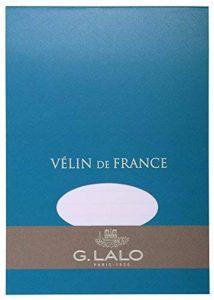 G.Lalo Papier à lettres en bloc Papier Vélin de France A5 50 feuilles 100 g 21 x 14,80 x 0,8 Blanc de la marque G. Lalo image 0 produit