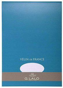G.Lalo Papier à lettres en bloc Vélin de France A4 50 feuilles 100 g 29,70 x 21 x 0,8 Blanc de la marque G. Lalo image 0 produit