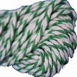 Gambit créative en coton Bakers Twine fil 100m en coton vert/blanc de la marque wolga-kreativ image 1 produit