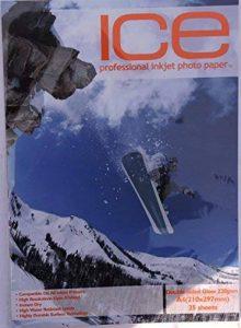 glace 100feuilles A4220g/m² Papier photo Double Face brillant/brillant de la marque ICE image 0 produit