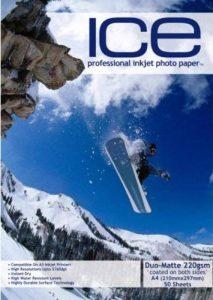 glace 100feuilles A4220g/m² Papier photo Double Face Mat/mat de la marque ICE image 0 produit