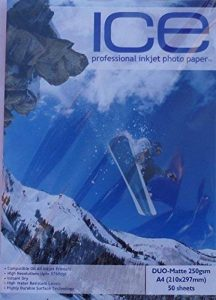 glace 100feuilles A4250g/m² Papier photo Double Face Mat/mat de la marque ICE image 0 produit