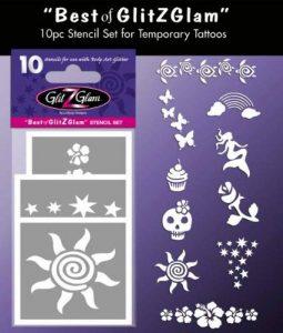 GlitZGlam Kit de modèles pour tatouages temporaires: Le meilleur Tatouages pour enfants, adolescents et adultes de la marque GlitZGlam image 0 produit