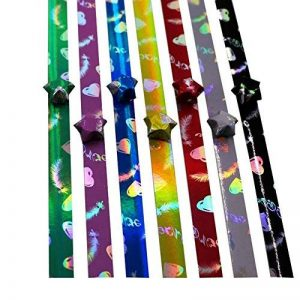 Glossy Star Origami à la main matériel 540 feuilles bricolage origami 7 couleurs de la marque Black Temptation image 0 produit
