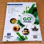 GO Inkjet - 100 Feuilles de papier photo 230gm format A4 29,7x21cm - Papier blanc extra brillant et waterproof, compatible imprimantes photos et jet d'encre de la marque GO Inkjet ® image 1 produit