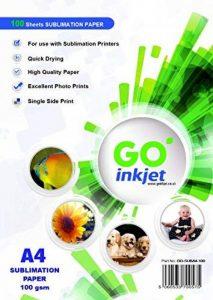 GO Inkjet ® Lot de 100feuilles de papier de sublimation A4 Pour t-shirts, mugs, transferts de la marque GO Inkjet ® image 0 produit