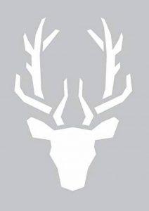 GRAINE CREATIVE 226609 Pochoir adhésif tète de cerf Plastique Gris 22 x 0,1 x 34 cm de la marque GRAINE CREATIVE image 0 produit