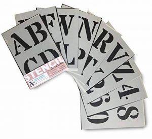 Grands Chiffres et Lettres de L'Alphabet 10cm ROMAIN Majuscules sur 9 feuilles de 29.5 x 20cm de la marque Dovetails image 0 produit